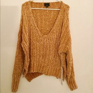 NWT Lumiere Forever21 Mustard Chenille Sweater